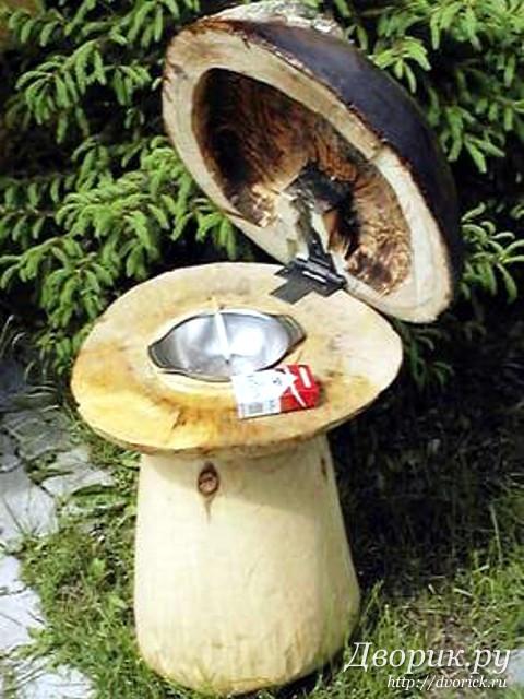 Как сделать своими руками гриб из дерева